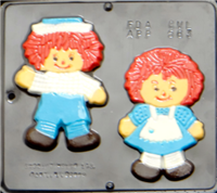 563 Ann & Andy Chocolate Candy Mold