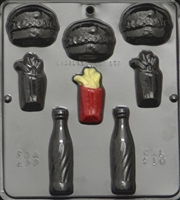 570 Snack Food Assortment Chocolate Candy Mold