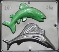 575 Bluefish & Swordfish Chocolate Candy Mold