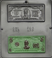 578 $5 Dollar Bill Chocolate Candy Mold