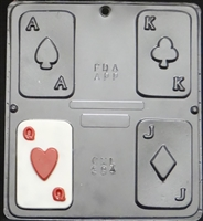 584 Playing Cards Chocolate Candy Mold