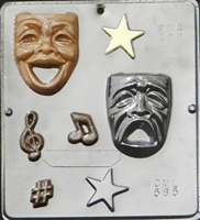 585 Comedy Tragedy Drama Theater Faces Chocolate