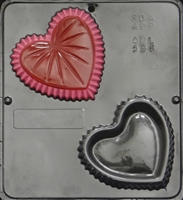596 Heart Shaped Jewelry Box Chocolate Candy Mold