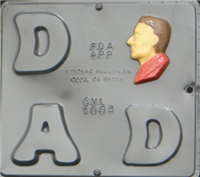 6003 D A D Letters with Profile Chocolate Candy Mold
