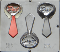 6006 Dad Collar with Tie Chocolate Candy Mold