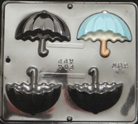 608 Umbrella Side View Chocolate Candy Mold