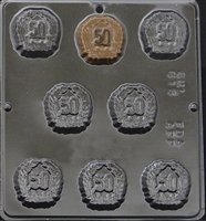 "616 ""50TH"" Anniversary Chocolate Candy Mold"