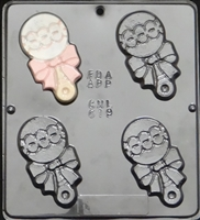619 Baby Rattle Chocolate Candy Mold