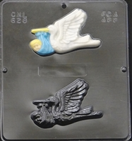 628 Stork with Baby Chocolate Candy Mold