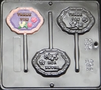 "636  ""Thank You"" Lollipop Chocolate Candy