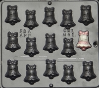 641 Small Bell with Bow Chocolate Candy Mold