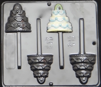 668 Wedding Cake Lollipop Chocolate Candy Mold