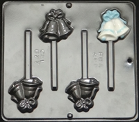 677 Wedding Bells with Bow Lollipop Chocolate Candy 