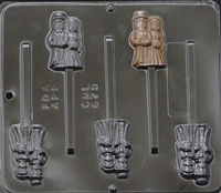 679 Bride & Groom Pops Lollipop Chocolate Candy Mold