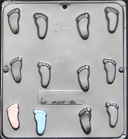 689 Baby Feet Chocolate Candy Mold