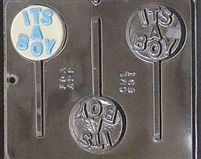"691 ""It's a Boy"" Lollipop Chocolate Candy Mold"