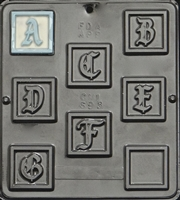 "693 ""A to G"" Letters Chocolate Candy Mold"