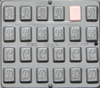 "7005 Alphabet ""A B C D"" Chocolate Candy Mold"