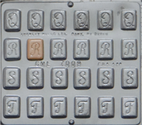 "7009 Alphabet ""Q R S T"" Chocolate Candy Mold"