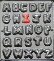 7011 Tufted Alphabet Chocolate Candy Mold