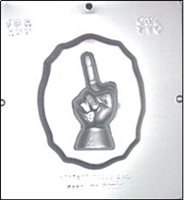 "710 ""Screw You"" Middle Finger Plaque Chocolate Candy Mold"