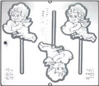 713 Erectile Cupid Lollipop Chocolate Candy Mold