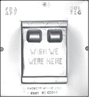 "714 ""Wish We Were Here"" Bed Card Chocolate Candy Mold"