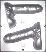 763 Large 3-D Penis Assembly Chocolate Candy Mold