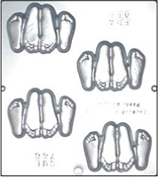 "766 ""Playing Footsie's "" Chocolate Candy Mold"