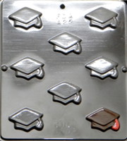 8007 Bite Size Graduation Mortarboard Chocolate Candy Mold