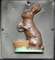 "804 Bunny 7"" Facing Left Chocolate Candy Mold"