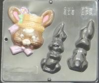818 Bunny Assembly Chocolate Candy Mold