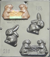 820 Bunny Assembly Chocolate Candy Mold