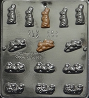 846 Bunny & Chick Assortment Chocolate Candy Mold