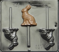 850 Bunny Lollipop Chocolate Candy Mold