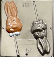 851 Bunny Face Lollipop Chocolate Candy Mold