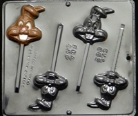 862 Bunny Pop Lollipop Chocolate Candy Mold