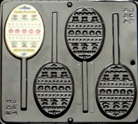 864 Flat Egg Decorative Lollipop Chocolate Candy Mold