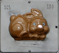 867 Bunny Assembly Front View Chocolate Candy Mold