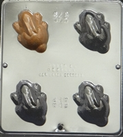 879 Rabbit Top View Chocolate Candy Mold