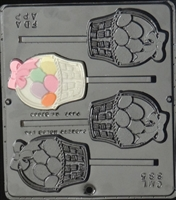 885 Egg Basket Lollipop Chocolate Candy Mold