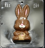 893 Bunny Front Side Chocolate Candy Mold