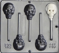 906 Skull Lollipop Chocolate Candy Mold