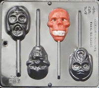 907 Ogres Pop Lollipop Chocolate Candy Mold