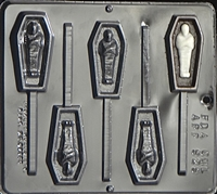 929 Coffin with Mummy Lollipop Chocolate Candy Mold