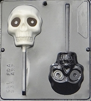 933 Large Skull Lollipop Chocolate Candy Mold