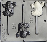 938 Happy Ghost Lollipop Chocolate Candy Mold