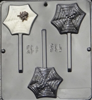 942 Spider on Web Lollipop Chocolate Candy Mold