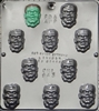 943 Monster Face Chocolate Candy Mold