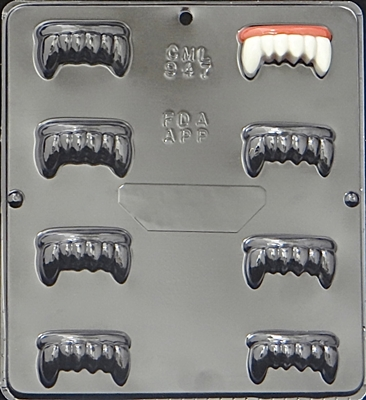 947 Dracula's Vampire Teeth Chocolate Candy Mold